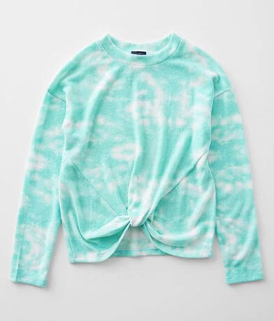Girls - Daytrip Tie Dye Twisted Hem Pullover