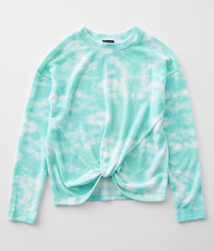 Girls - Daytrip Tie Dye Twisted Hem Pullover front view