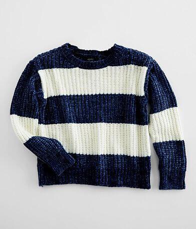 Girls - Daytrip Striped Chenille Sweater