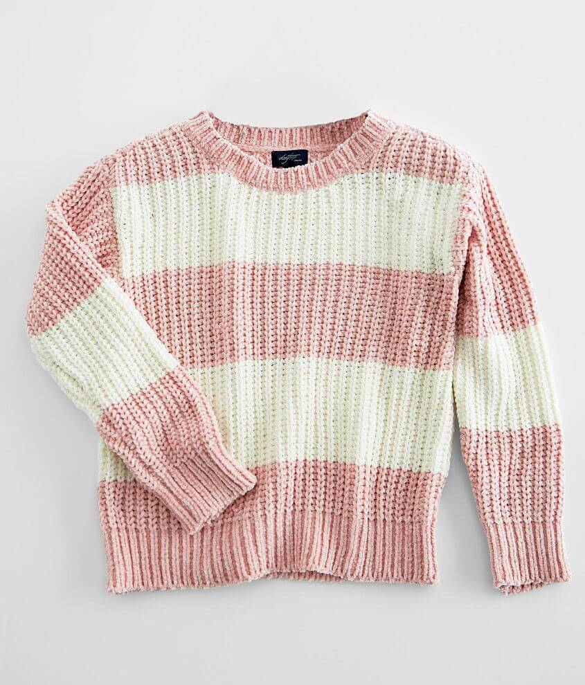Girls - Daytrip Striped Chenille Sweater front view