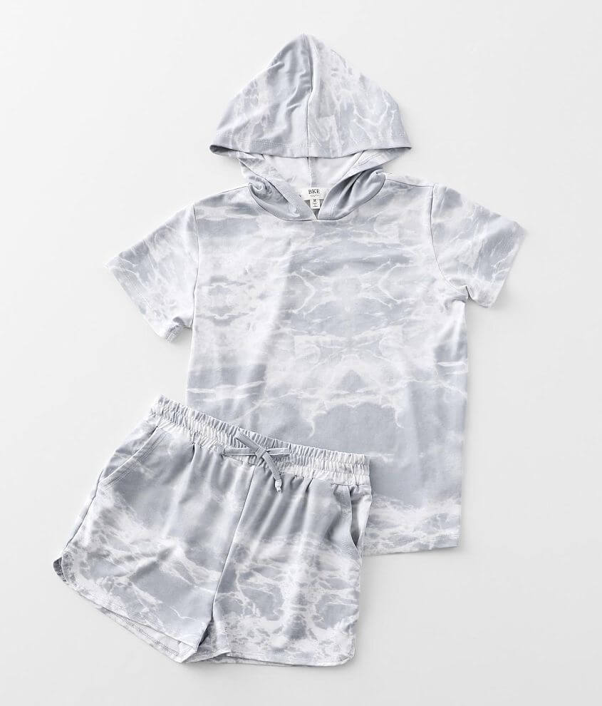 Girls - BKE Brushed Marble Knit 2 Piece Set front view
