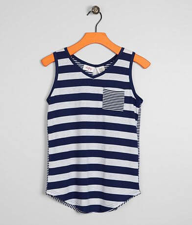 Girls - Daytrip Striped V-Neck Tank Top