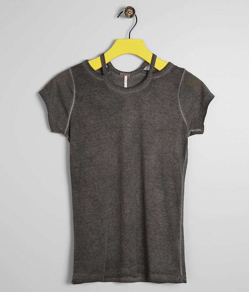 girls grey top