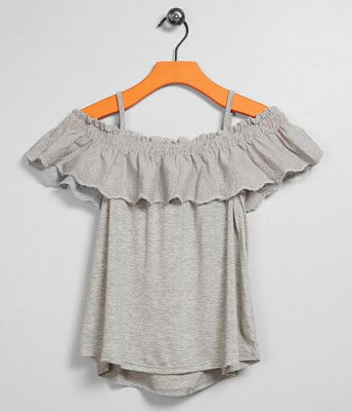 Girls - Daytrip Cold Shoulder Embroidered Top