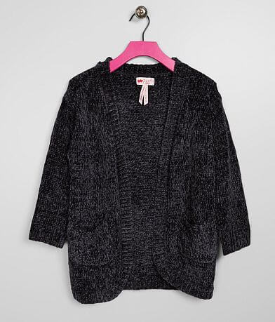 Girls - Poof Chenille Cardigan Sweater