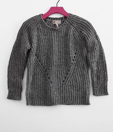 Girls - Poof Chenille Pointelle Sweater