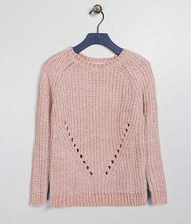 Girls - Poof Chenille Pullover Sweater