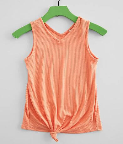 Girls - Poof Knotted Tank Top