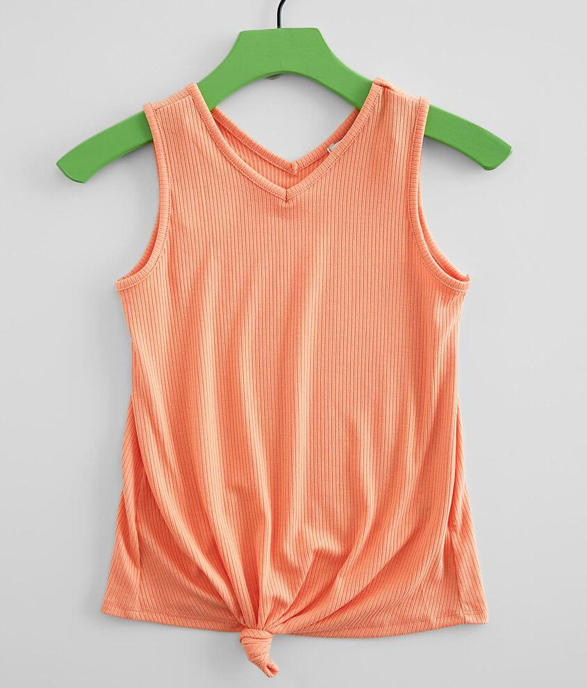Girls - Poof Knotted Tank Top front view