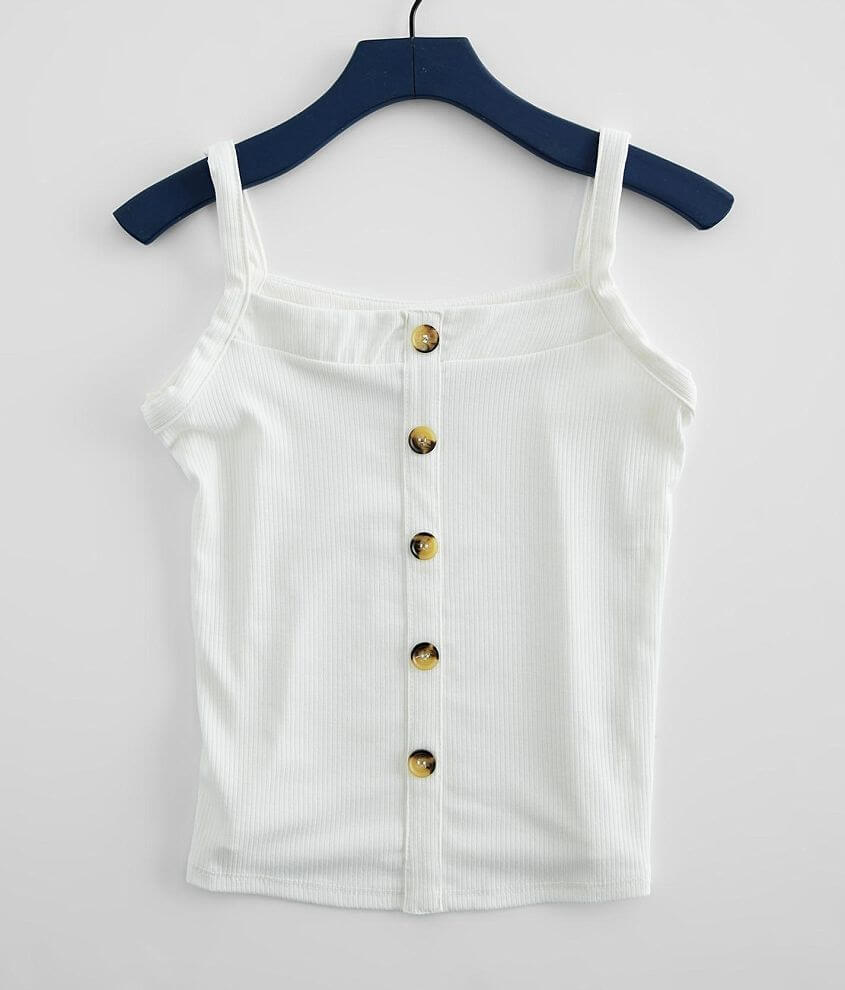 Girls - Daytrip Ribbed Knit Tank Top front view