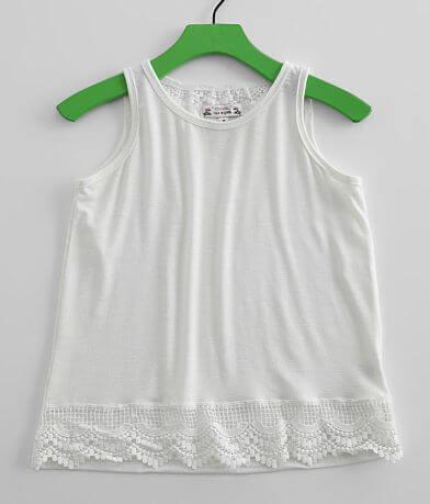 Girls - Poof Slub Knit Tank Top