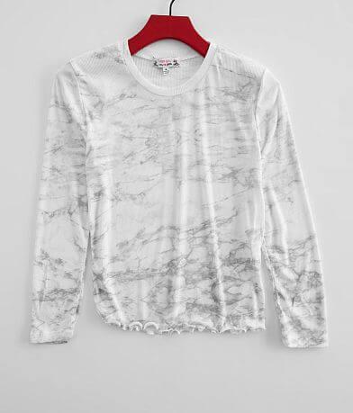 Girls - Marble Print Top