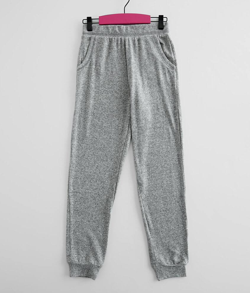 Girls - Poof Brushed Knit Jogger front view