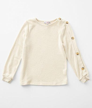 Girls - Poof Brushed Knit Top