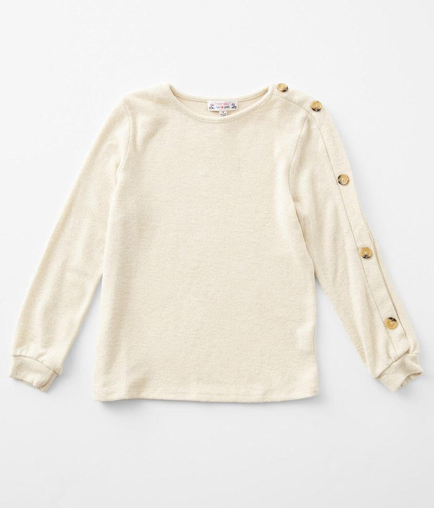 Girls - Poof Brushed Knit Top front view