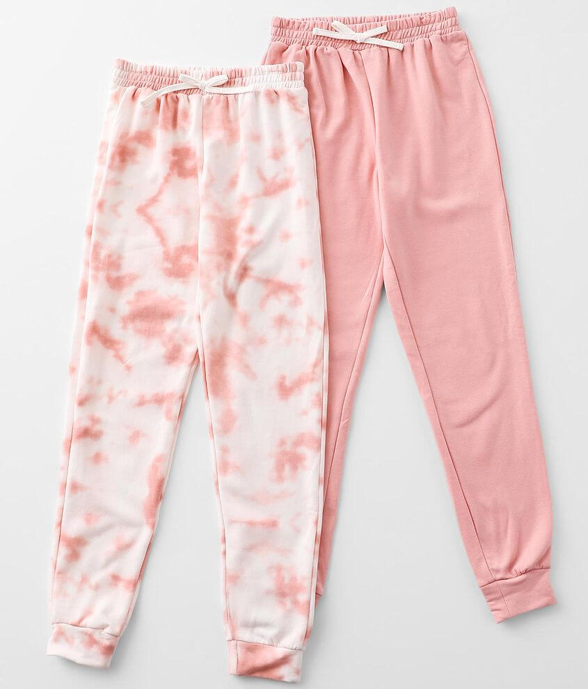 Girls - Poof 2 Pack Brushed Knit Jogger Set front view
