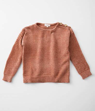 Girls - Poof Chenille Drop Shoulder Sweater