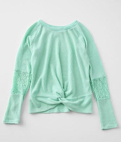 Girls - Daytrip Brushed Waffle Knit Top