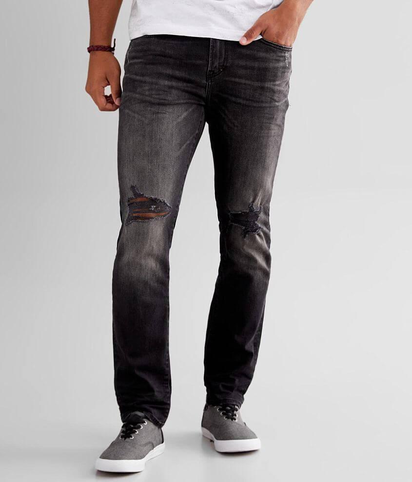 Prps Black Slim Taper Stretch Jean front view