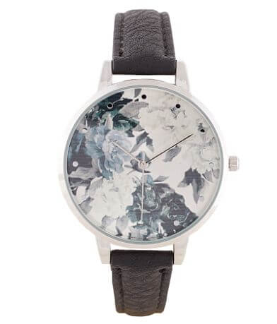 BKE Floral Leather Watch
