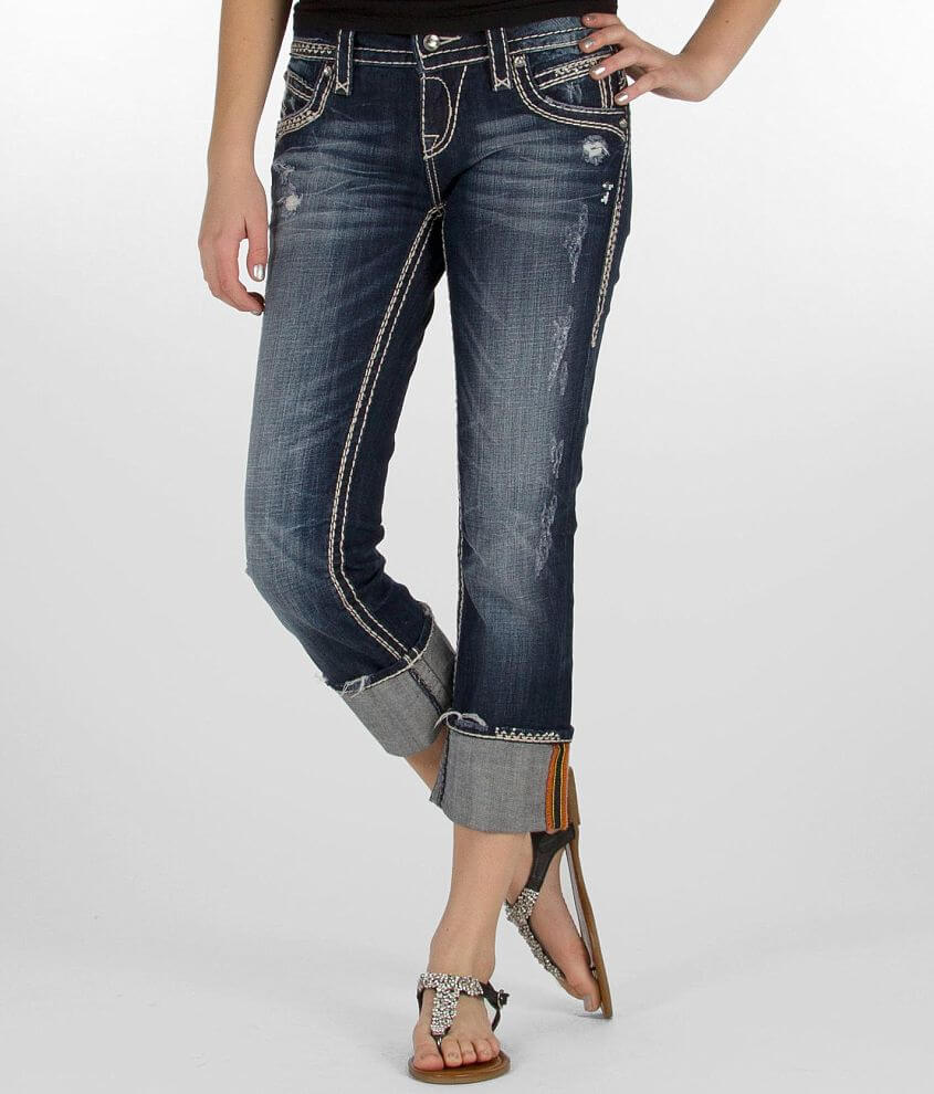 Rock Revival Becky Easy Stretch Cropped Jean front view