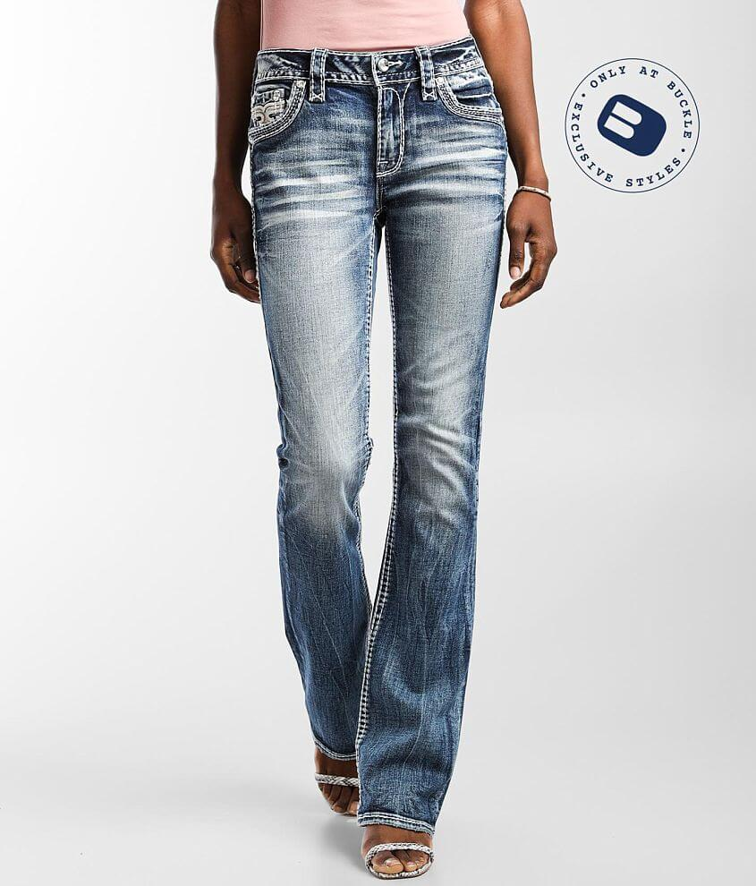 Rock Revival Nadine Mid-Rise Boot Stretch Jean front view