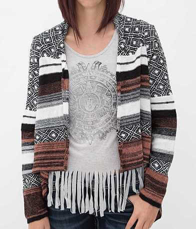 BKE Open Weave Cardigan Sweater