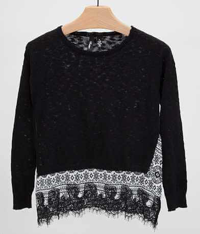 BKE Boutique Pointelle Sweater