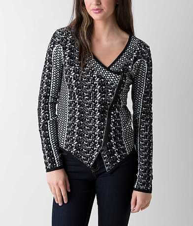 BKE Boutique Embroidered Cardigan Sweater