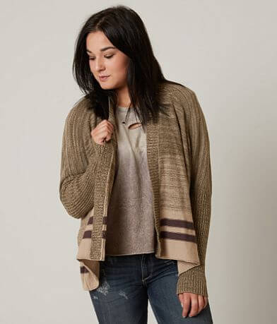 Gilded Intent Open Weave Cardigan Sweater