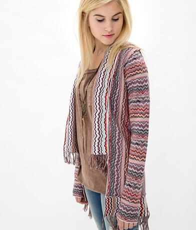 Gimmicks Reverse Print Cardigan Sweater
