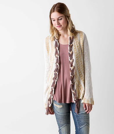 Gimmicks Braided Cardigan Sweater