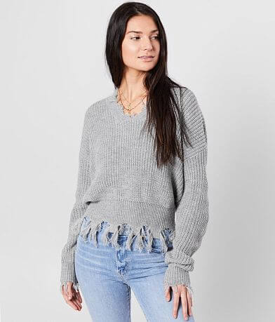 Daytrip Destructed V-Neck Sweater