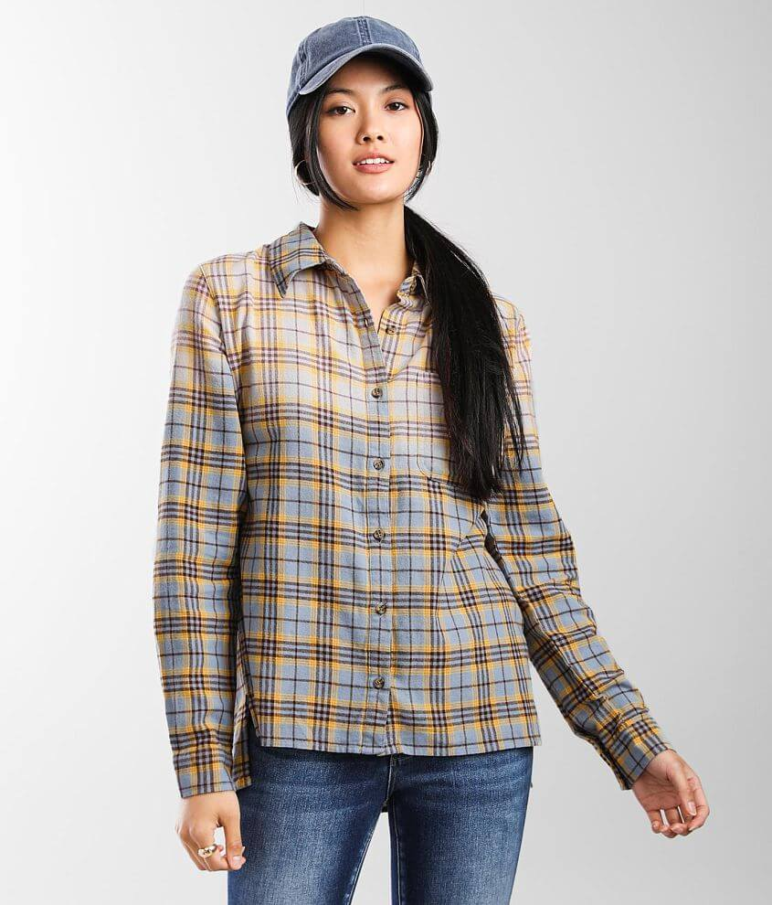 BKE Plaid Eased Fit Shirt front view