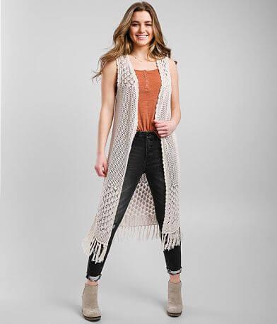 Daytrip Crochet Duster Sweater Vest