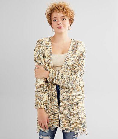 BKE Chenille Cardigan Sweater