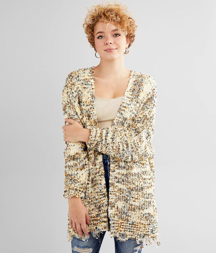 BKE Chenille Cardigan Sweater front view