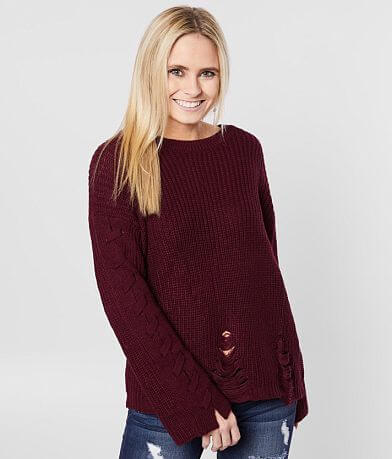 Daytrip Destructed Pullover Sweater