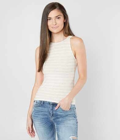 Daytrip High Neck Ribbed Tank Top