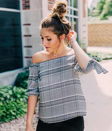 Polly & Esther Plaid Top