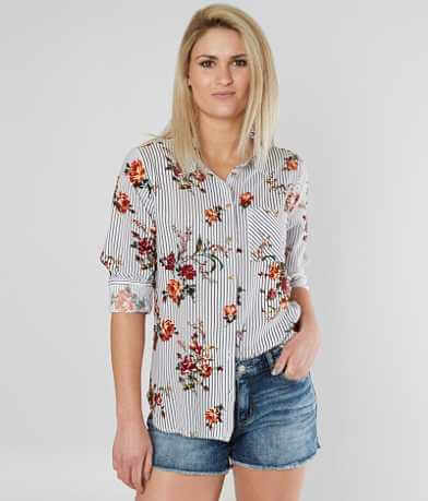 Daytrip Striped Floral Blouse