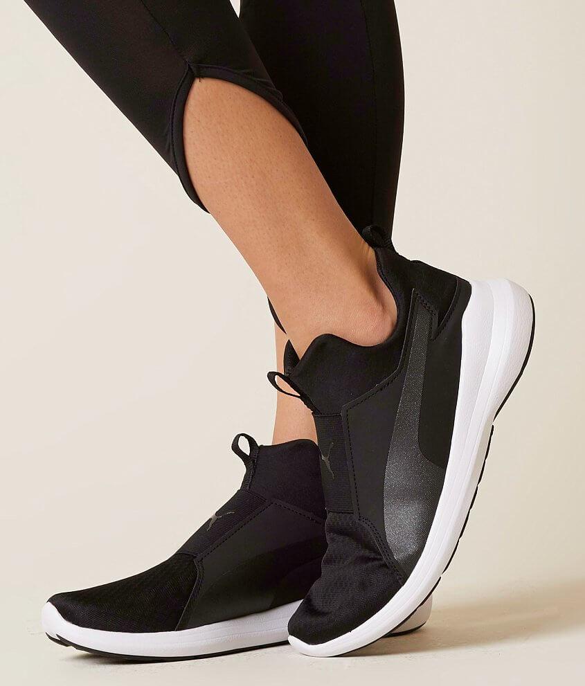 Puma rebel shoe womens shoes in black black white buckle nvjuhfo Choice Image