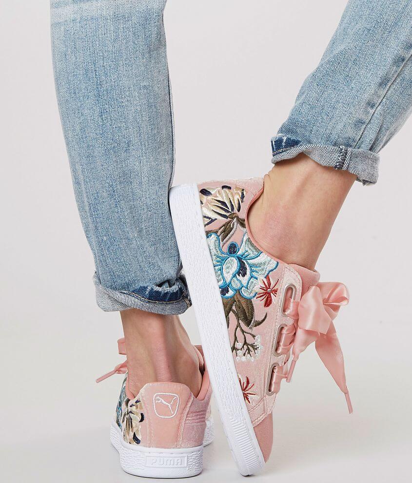 uk availability 53779 ca6ce Puma Basket Heart Hyper Shoe - Women's Shoes in Peach Beige ...