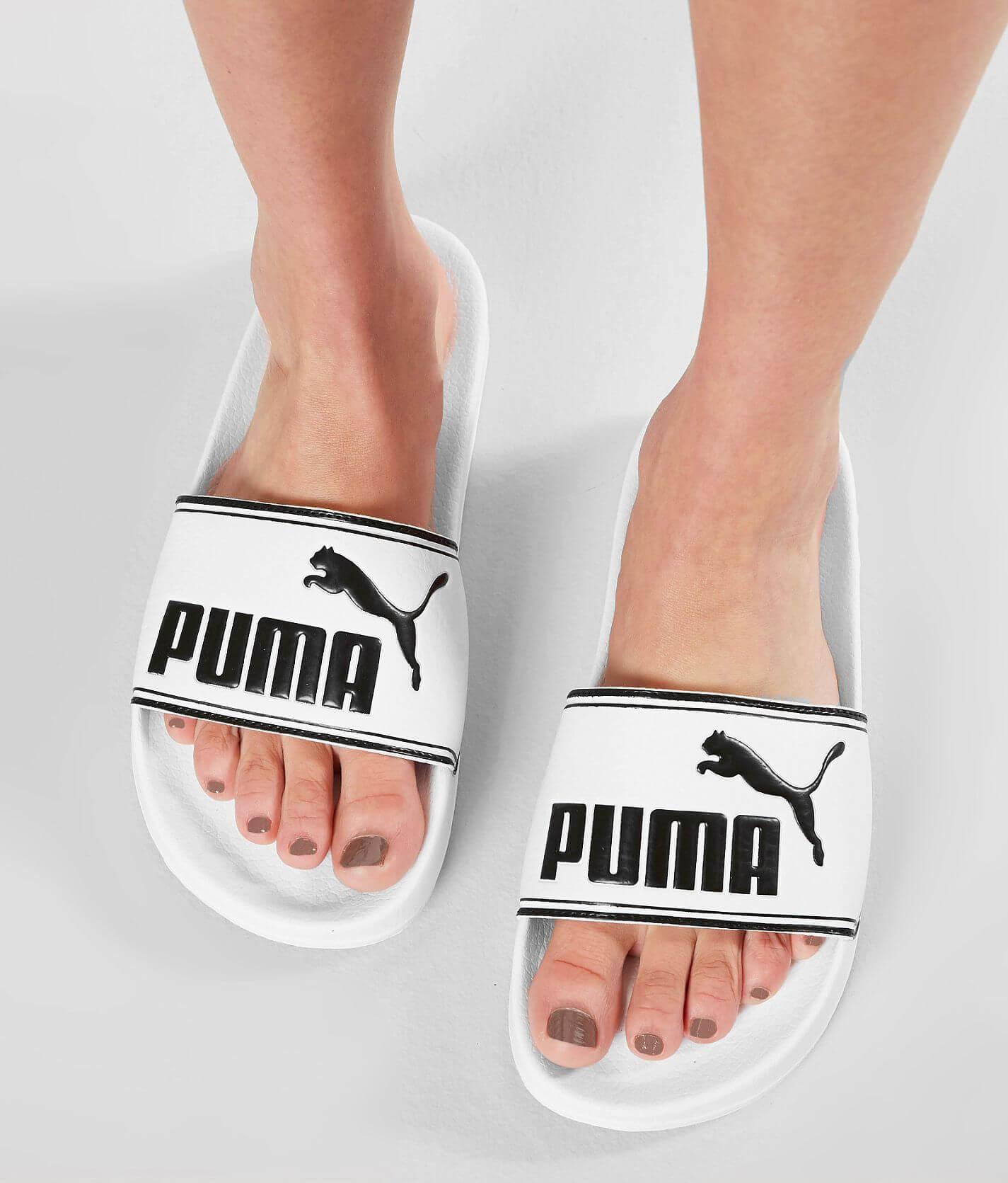 Puma Leadcat Slide - Women's Shoes in Puma White Puma Black | Buckle