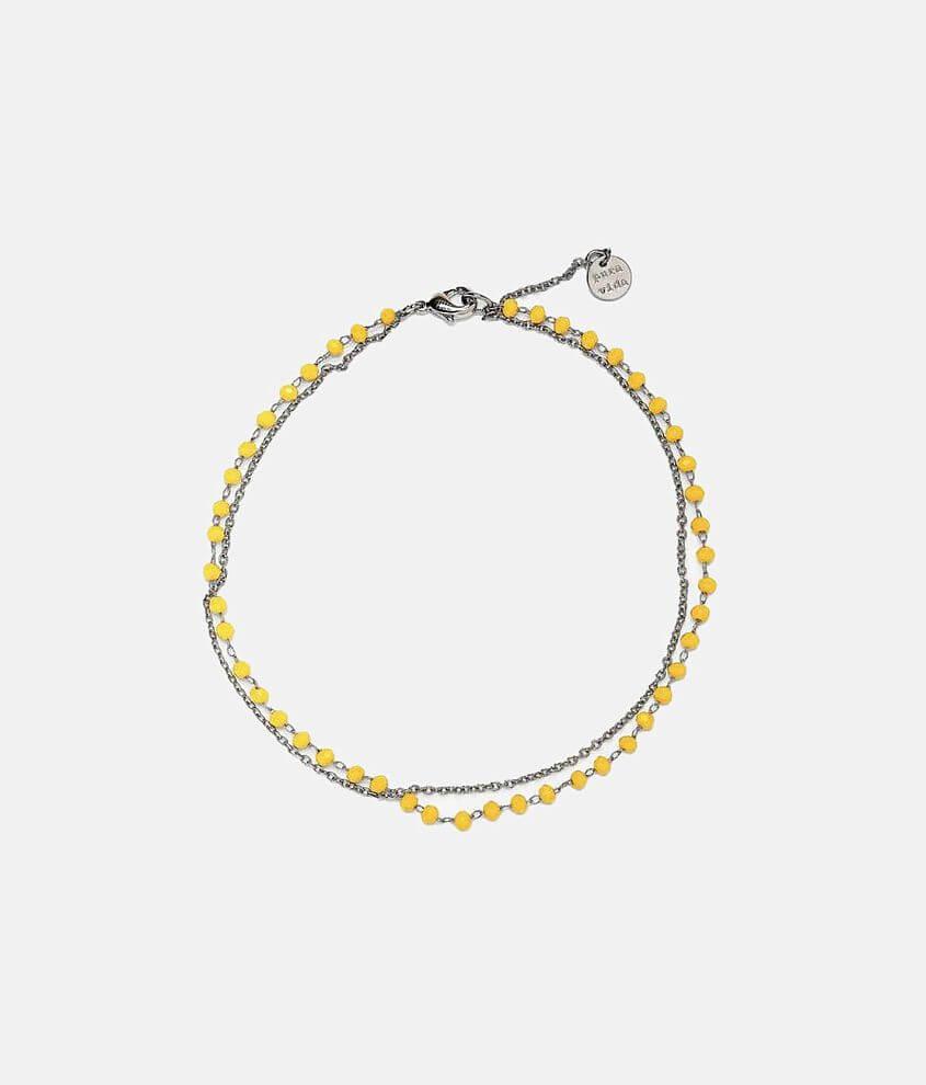 Pura Vida Neon Beaded Ankle Bracelet front view