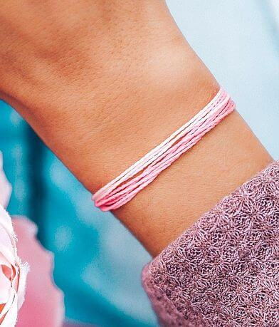 Pura Vida Boarding For Breast Cancer Bracelet
