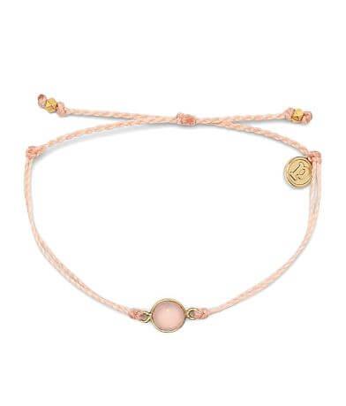 Pura Vida Rose Quartz Charm Bracelet