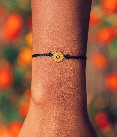Pura Vida Sunflower Charm Bracelet