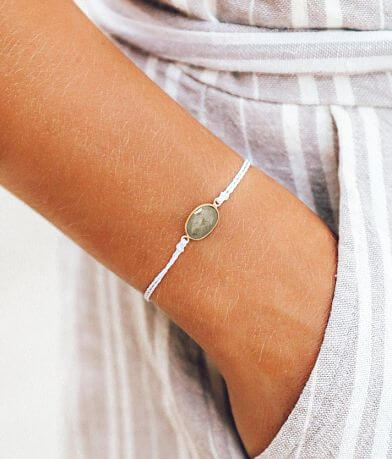 Pura Vida Oval Stone Charm Bracelet