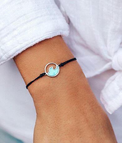 Pura Vida Turquoise Wave Charm Bracelet